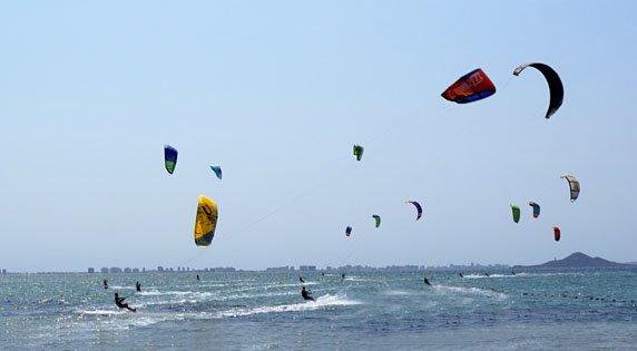 Kite Surfing at Los Narejos